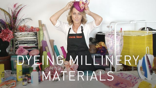 Dyeing Millinery Materials