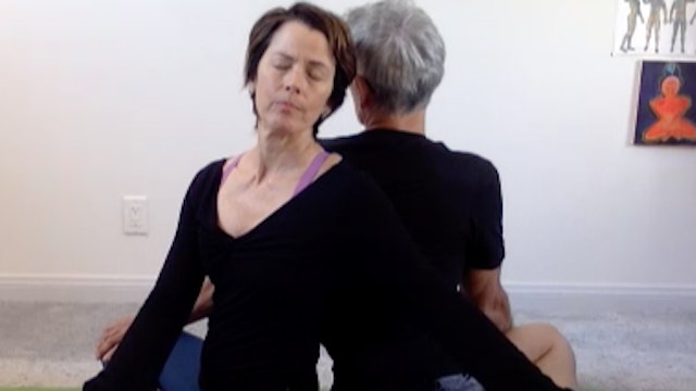 Partner Yoga with Diane and Jeanne