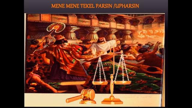 MENE MENE TEKEL PARSIN-UPHARSIN USING ABAGUSII - SWAHILI HEBREW BANTU CODE