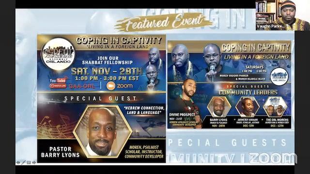 Great Awakening Orlando  Shabbat Fellowship with Pastor Barry Lyons