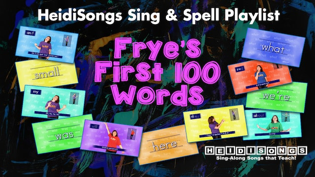 Fry S First 100 Words Heidisongs Sing Spell