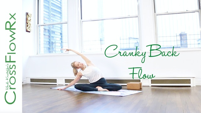CrossFlowRx: Cranky Back Yoga Flow