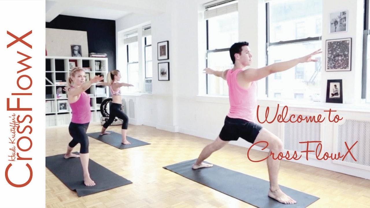 CrossFlowX™:  Meet your new favorite cardio yoga!