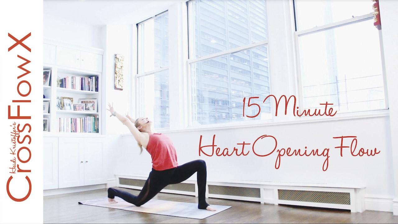 CrossFlowX™: 15-Minute Heart Opening Flow