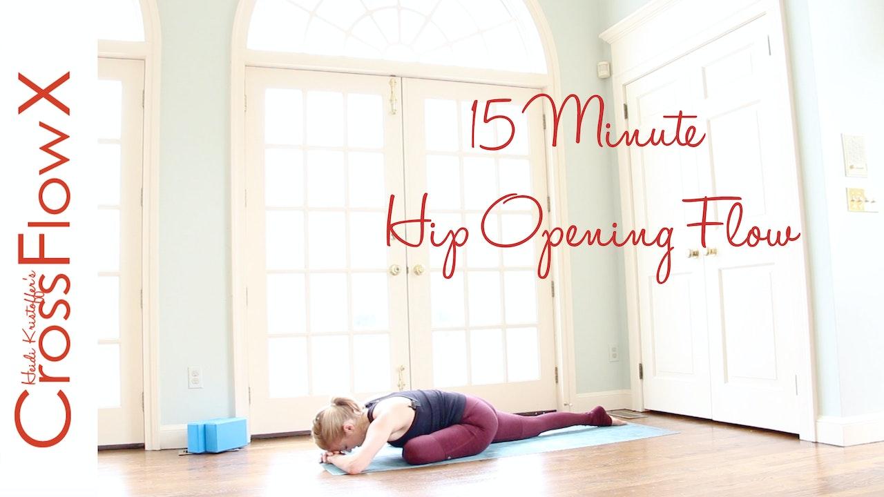 CrossFlowX™: 15-minute Hip Opening Flow