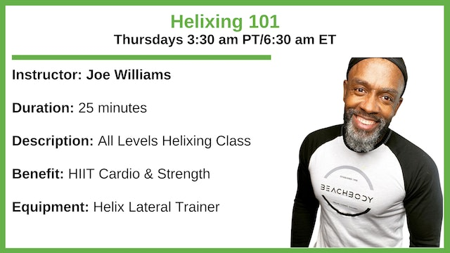 Thursday 3:30 am - Helix 101 - All Levels