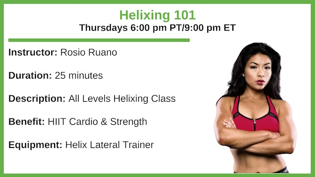 Thursday 6:00 pm - Helix 101 - All Levels