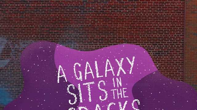 A Galaxy Sits In The Cracks