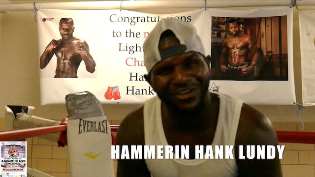 Higher Than 7 Boxing - Hammerin Hank Lundy - Promo