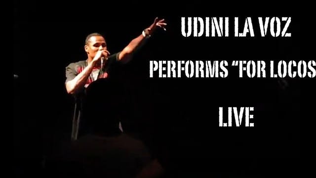 """FOR LOCOS"" LIVE PERFORMANCE BY UDINI..."