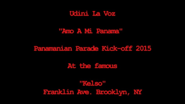 Panama Parade Kick-off 2015 at Kelso in Brooklyn NY - Udini La Voz