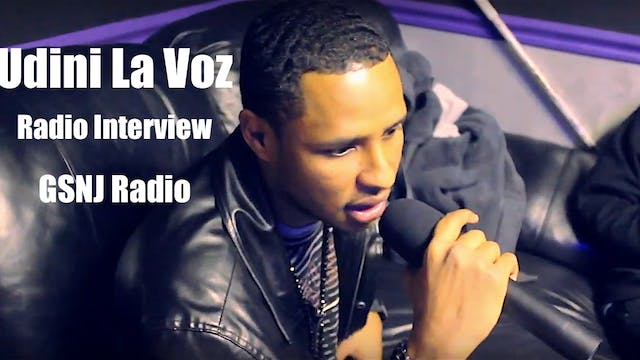 Udini La Voz interview at GSNJ Radio