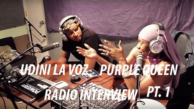 Udini La Voz Radio Interview - A Moment With Purple
