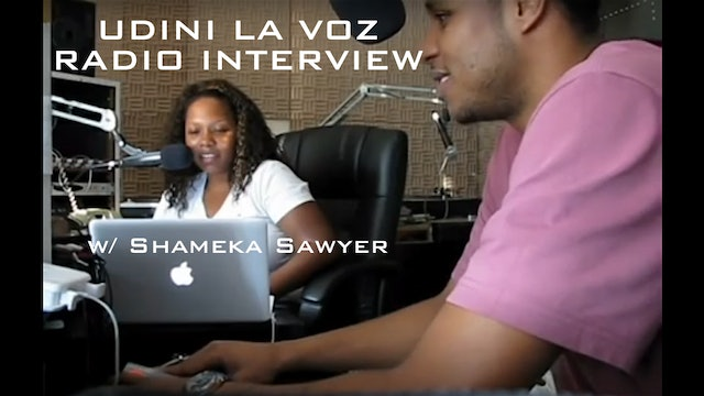 Udini La Voz Interview at WQHS radio station by Shameka Sawyer