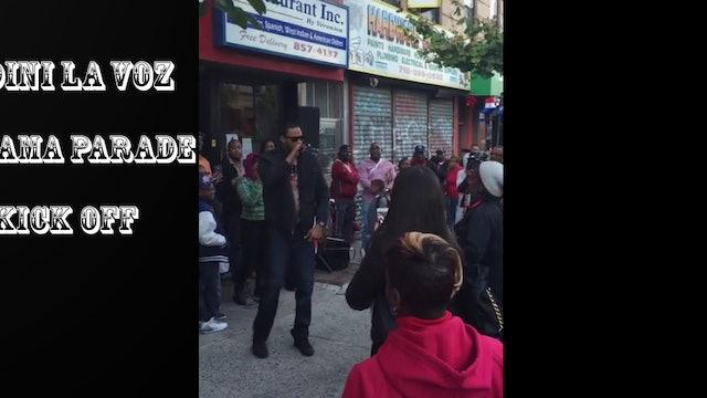 Udini La Voz kicked off the 19th annual Panamanian Day Parade w/ Amo A Mi Panama
