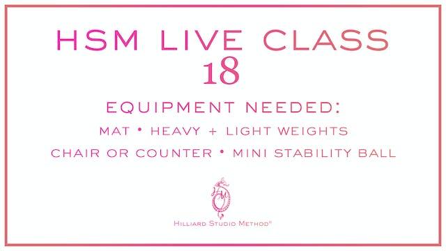 HSM Live Class 18