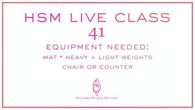 This Week's HSM Live Class