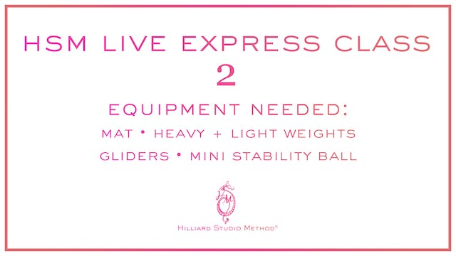*Bonus Videos* HSM Live Express Classes