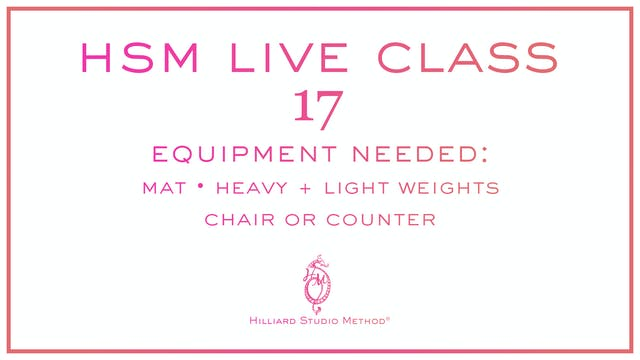 HSM Live Class 17
