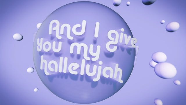 I Give You My Hallelujah (Backing)