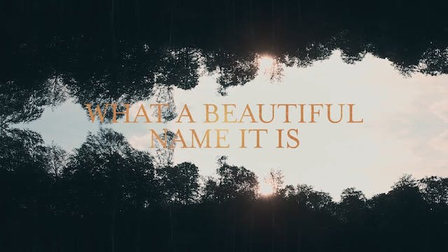 Lyric Video - What A Beautiful Name [BACKING TRACK]