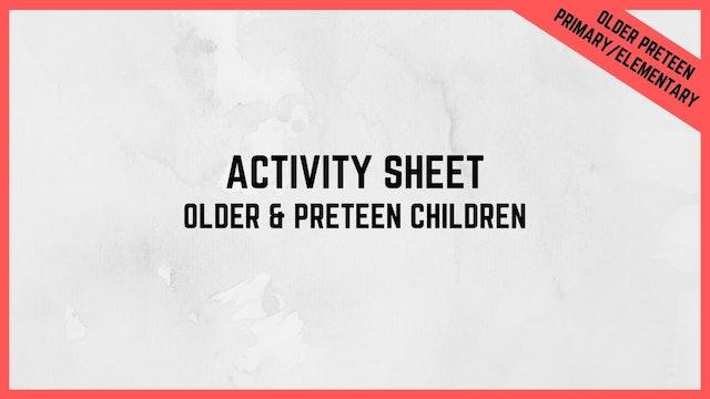 Activity Sheet | Older Children