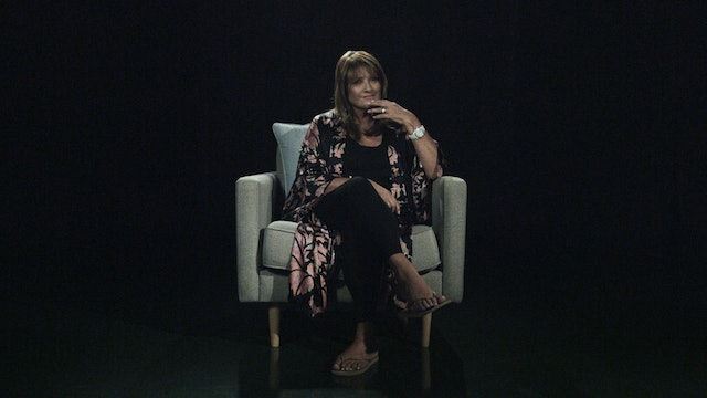 Bobbie Houston in the White Chair