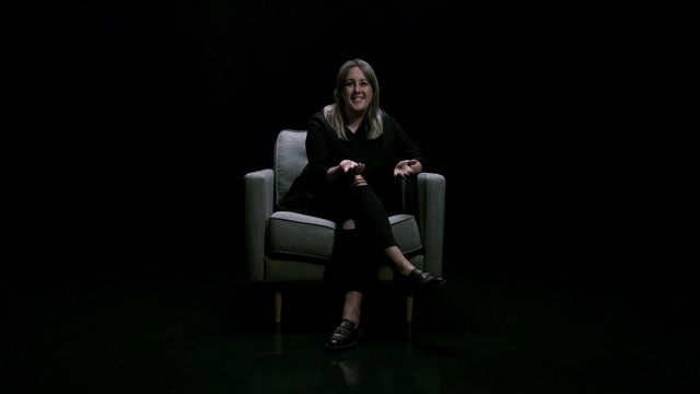 Kristin Mateika in the White Chair