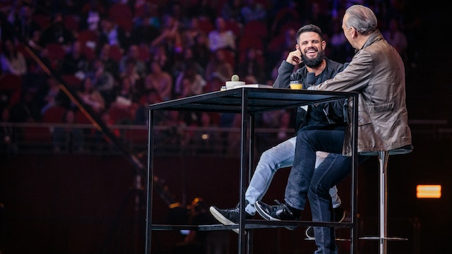 Brian Houston with Steven Furtick