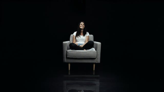 Cassandra Langton in the White Chair