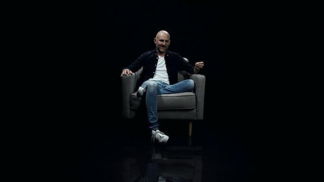 Richard Langton in the White Chair