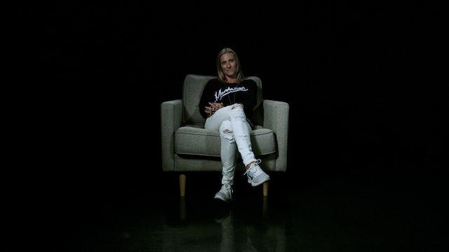 Autumn Starra in the White Chair