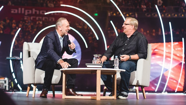 Brian Houston with Rick Warren