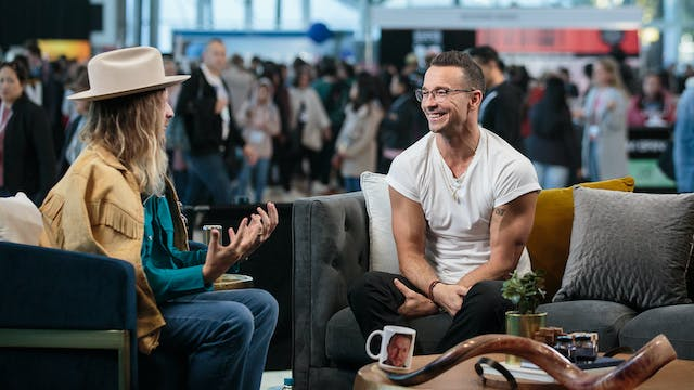 Carl Lentz with Nathan Finochio