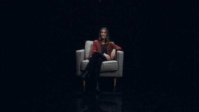 Annie Garratt in the White Chair