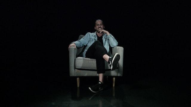 Jamin Tasker in the White Chair
