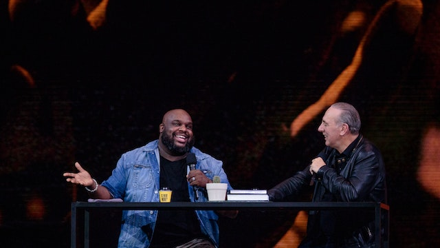 Brian Houston with John Gray