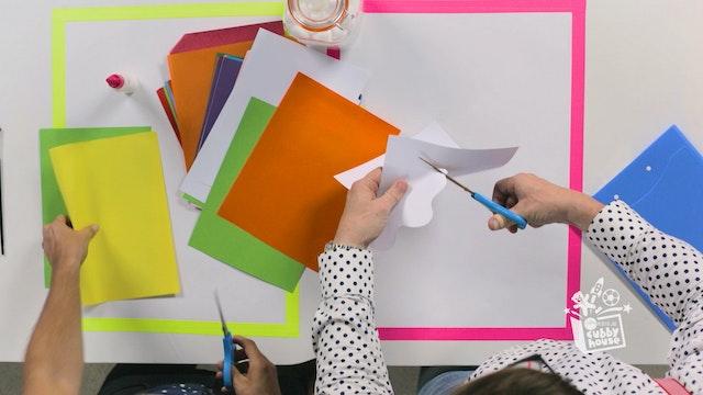 Cotton Balls & Coloured Paper