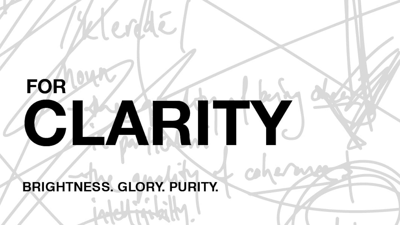 For Clarity - Worship & Creative Conference 2019