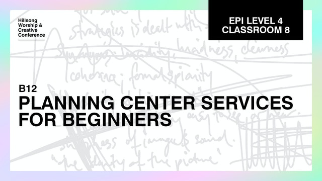 Planning Center For Beginners with Aaron Stewart