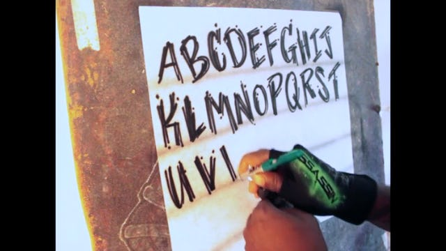 Sribble Lettering Alphabet