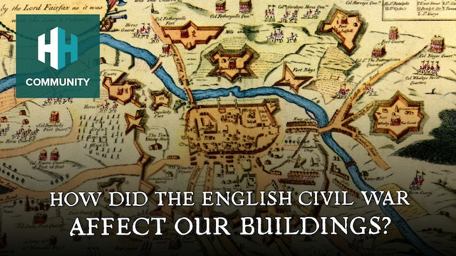 How did the English Civil War affect our buildings?