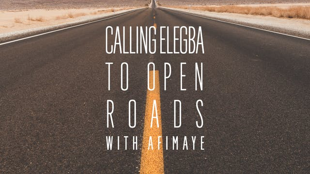 Calling Elegba to Open Roads