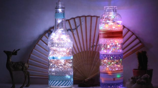Glass Bottle Lamp