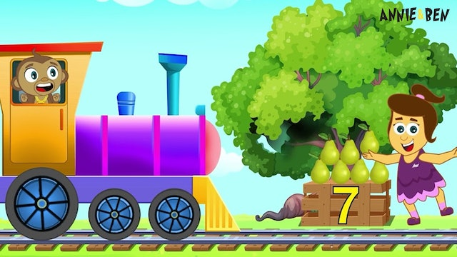 Annie And Ben - Learn Numbers & Fruits With Train