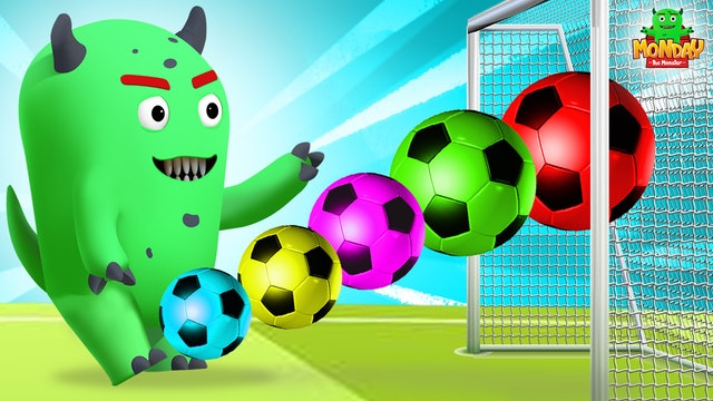 Monday The Monster - Monday Learn Numbers With Sports