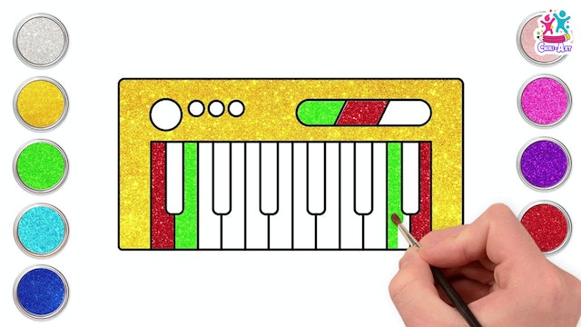 How To Draw A Musical Keyboard