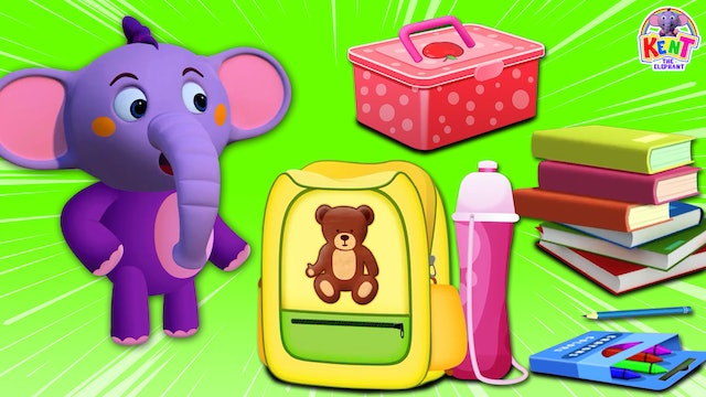 Kent the Elephant - Kent And His Things From His School Bag