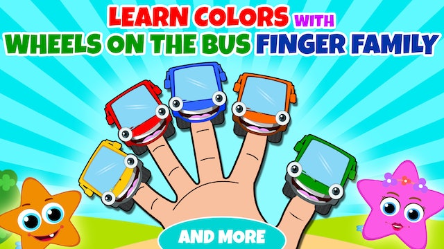 Learn Colors With Wheels On The Bus, Finger Family And More