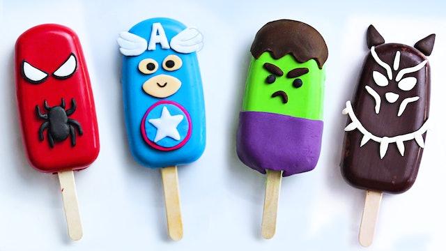 Avengers Cakesicles